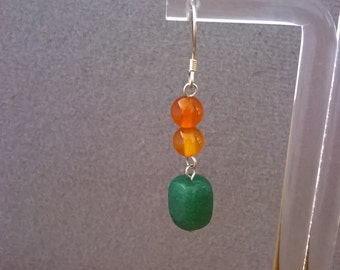 S -369 carnelian and agate