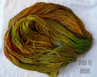 Harvest - Hand-Dyed / Hand-Painted Yarn - Superwash Merino Wool - Dyed To Order
