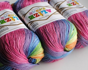 BAHAR BATİK Alize 100% Merserized Cotton yarn for crochet and knitting 100g - 260m