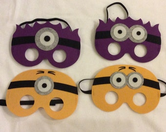 Minion Masks, Party, Favors, Birthday Favors