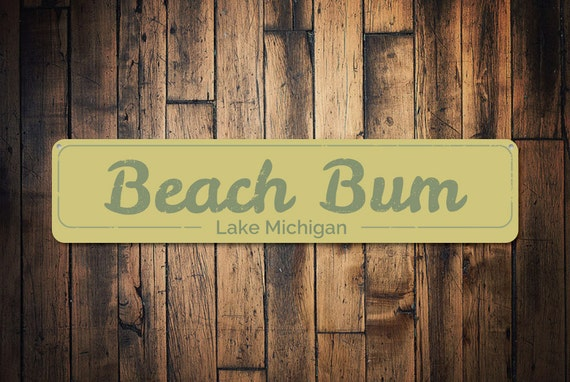 Beach Bum Sign Personalized Beach Sign Beach House Decor