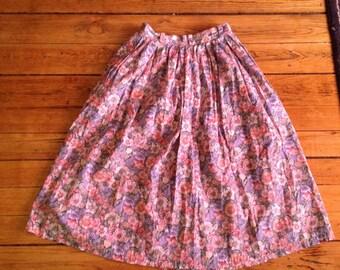 Floral summer skirt