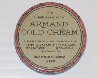 Cold Cream Tin from Iowa, USA