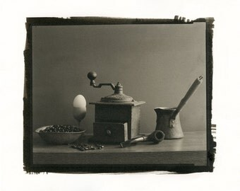Still life with coffee. Palladium print