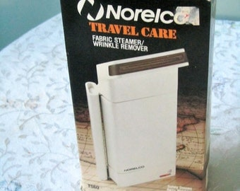 Norelco fabric steamer wrinkle remover electric never used original box travel