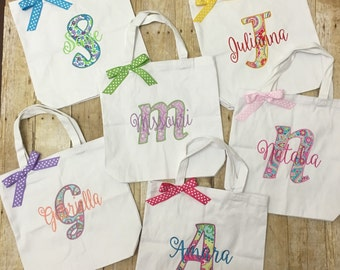 Girls Personalized Tote Bag - Girls Personalized Shopping Bag