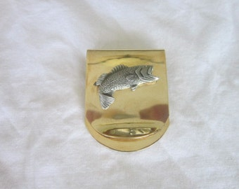 Vintage Fishing Fishermans Money Clip Like New