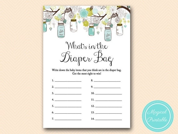 bag baby item rustic mason jars baby shower baby shower games