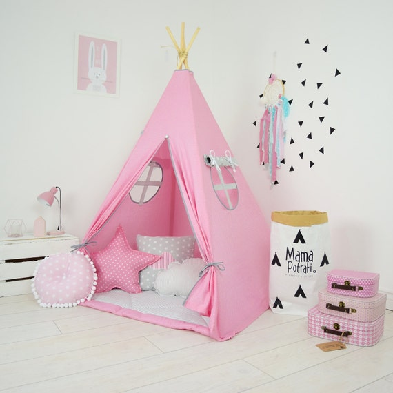 teepee kids play tent tipi kid play teepee child teepee. Black Bedroom Furniture Sets. Home Design Ideas