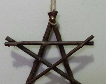 Primitive Country Stars, Rustic Decor, Natural Wood Wall Hanging, Wall Ornament, Stars, Pentagram