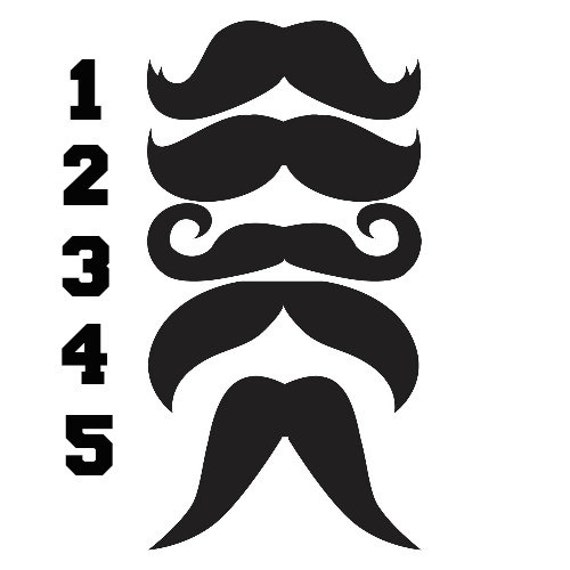 Temporary tattoos various mustache style temporary ink for Mustache temporary tattoos