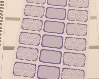 Purple Damask Half Boxes
