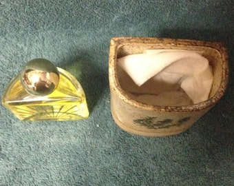Stoneware Cologne Holder With Avon Lights Cologne