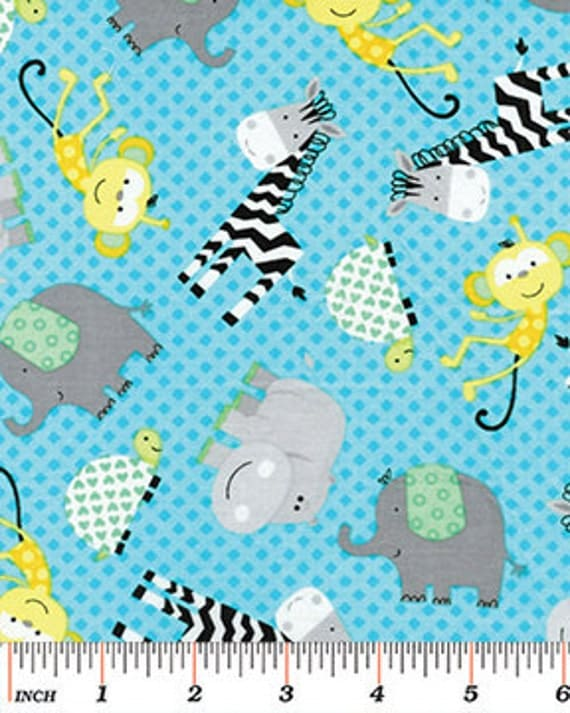 Safari playground baby animal fabric baby fabric fabric for Unisex baby fabric