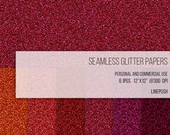 SALE! Seamless glitter papers. Red sparkly glitter background. Sparkly glitter wallpapers. Scrapbooking digital paper Design elements.