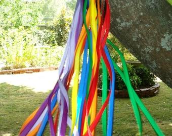 Ribbon Wand / Wind Wand / Hand Kite / Dancing Wand / Ribbon Ring / Party Favourite   ** FREE Postage