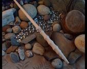 "13  1/4"" Wood wand No. 97-300, harry potter wand inspired Magic Wand, wedding wand, Custom Wand, crystal wand, wands, wooden wands"