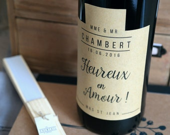4 labels to customize your bottles of wine