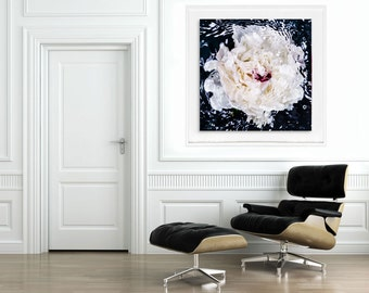 Black & White Abstract, Black White Art, Monochrome square art by Jessica Kenyon, Large Fine Art Photography