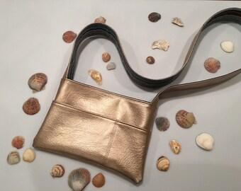Vinyl Crossbody Bag Messenger Purse Gold Vinyl Purse Tribal Print Messenger Bag