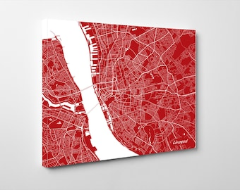 Liverpool Street Map Print Map of Liverpool City Street Map Liverpool Poster Wall Art 7106L
