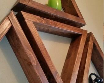 Faux Reclaimed Wood Triangle Shelf
