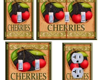 Cherry Light Switch Plate Cover Kitchen Decor Cherries