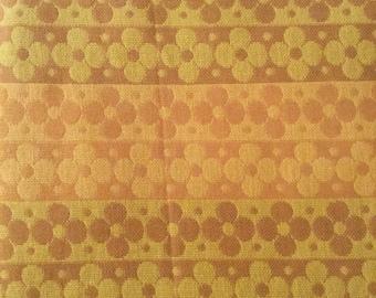 Vintage Mod Flower Power Hippie Bedspread fabric retro  (2 available)