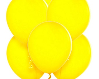 "12 Yellow Balloons 11"" Superior Quality Qualatex, Wedding Shower Balloon, pastel party decor"