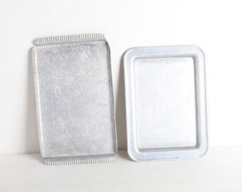 Vintage Set of Two Aluminum Trays