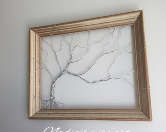 Wire tree in a re-loved frame
