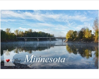the Minnesota Bridge, Minnesota River Valley, Le Sueur, Minnesota