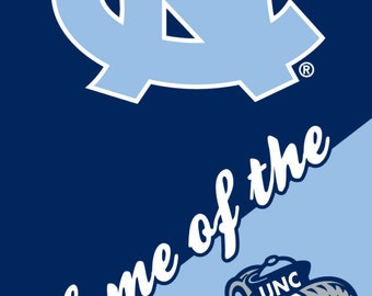North Carolina Tar Heels Beach Towel
