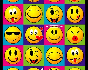 Smiley Faces Beach Towel 30x60