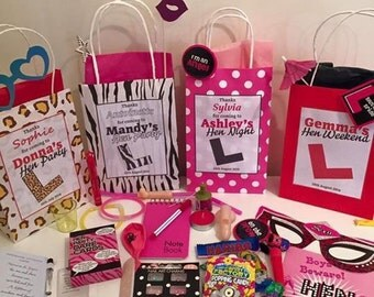 Personalised hen any bags with choice of 5 fillings