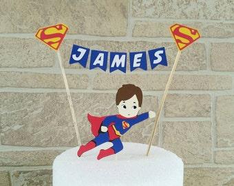Superman cake topper, Superhero cake topper, Superhero birthday, justice league birthday, Superman party, Superman birthday, justice league