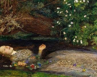 Ophelia by John Everett Millais PDF Cross Stitch Pattern - Pre-Raphaelite