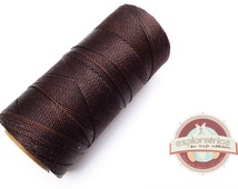 4 meters of polyester waxed for 0.7 mm Brown macrame cord