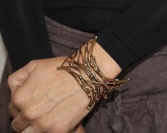Gold Cuff Bracelet