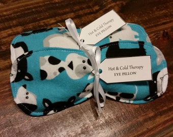 Who Let The Dogs Out -  Eye Pillow - Hot & Cold Therapy Rice Pack (Flannel)