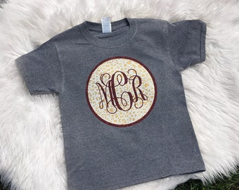 Womens Monogrammed Shirt, Womens patterned monogram shirt
