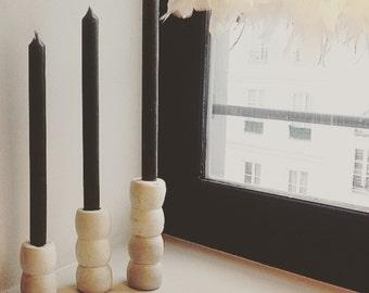 """Candle holders """"Micheline"""" in concrete. Concrete candlesticks """"Micheline"""""""