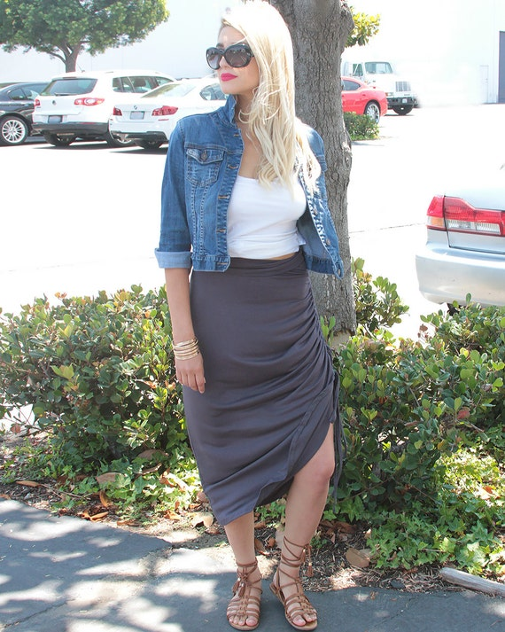 tie that knot fold maxi skirt by lysslooapparel on etsy