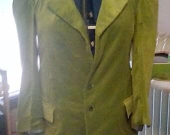 Third Doctor Green Velvet Jacket