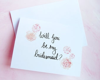 Will you be my bridesmaid card, Ask bridemaids cards, Asking bridesmaid card set, Bridesmaid proposal, Bridal party invitations