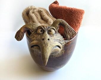 Ceramic Bird Pot