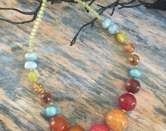 Colorful Large Beaded Necklace