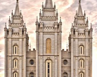 LDS Salt Lake Temple Print 8x10