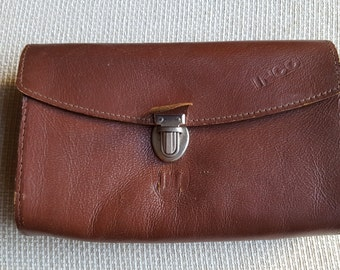 Vintage 1970's Brown Leather Doctors Bag - Small Size.NEW