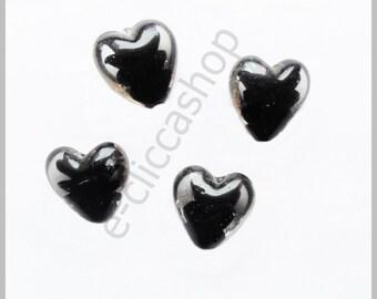 Glass bead heart 1 pc